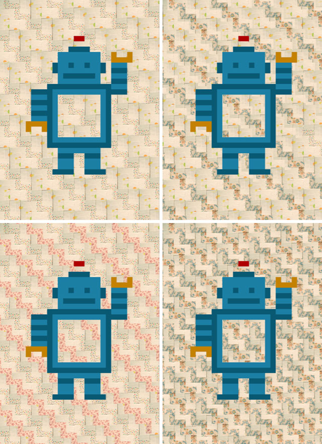 Robot fabric mock-ups