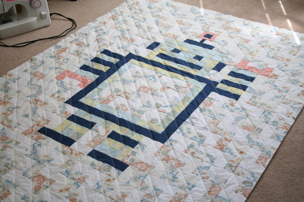 Robot Quilt, quilted