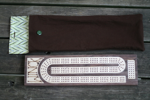 cribbage board & bag