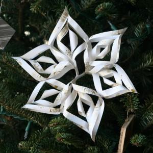 Paper snowflake star