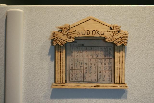Sudoku temple refrigerator magnet