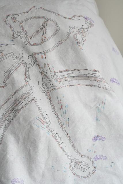 custom-designed tandem bike fabric