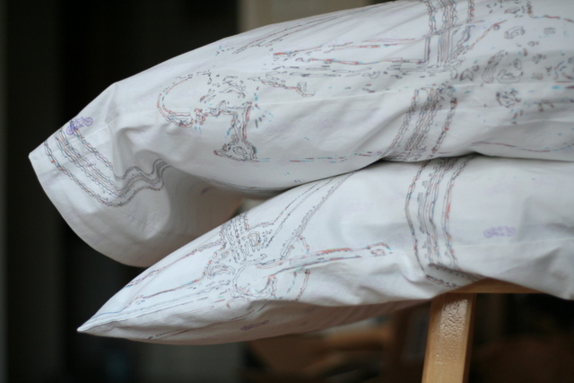 custom-designed tandem bike pillowcases