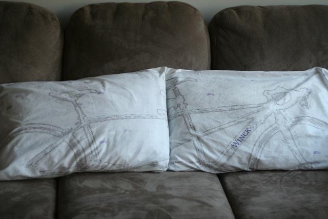 tandem bike pillowcase set