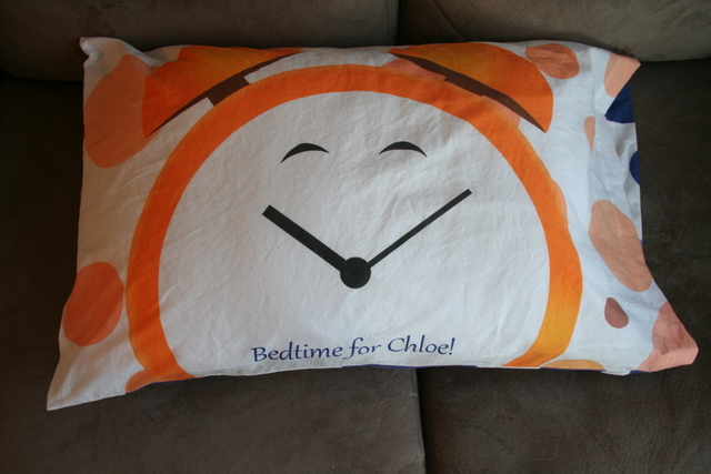 alarm clock pillowcase - bedtime
