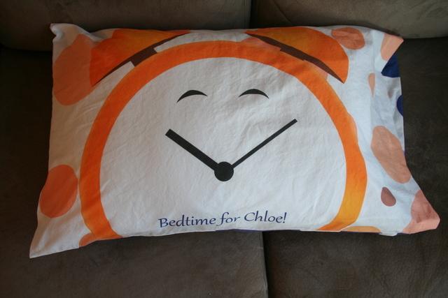 alarm clock pillowcase - bedtime