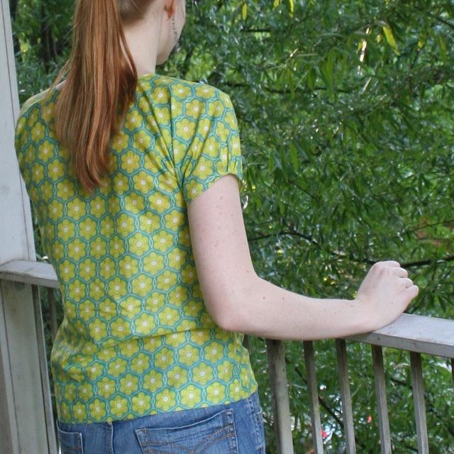 voile dolman-sleeve shirt