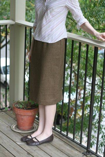 brown wool skirt