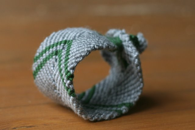 yarn friendship bracelet cuff