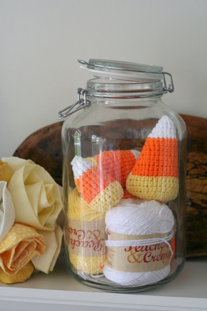 giant candy corn in crochet
