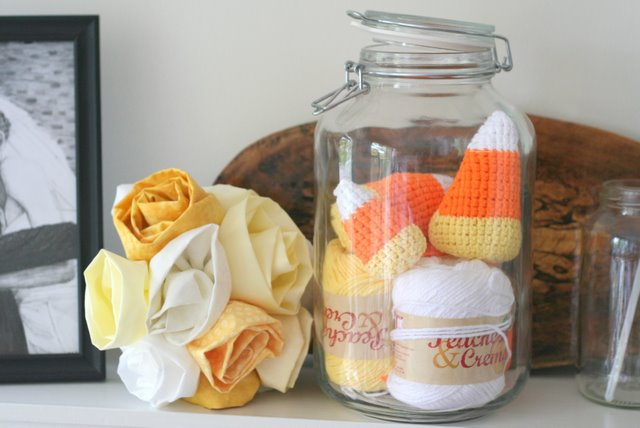 giant crochet candy corn