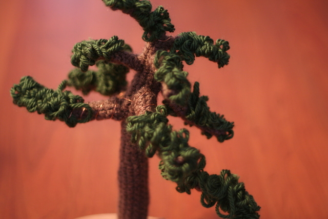 crochet bonsai tree