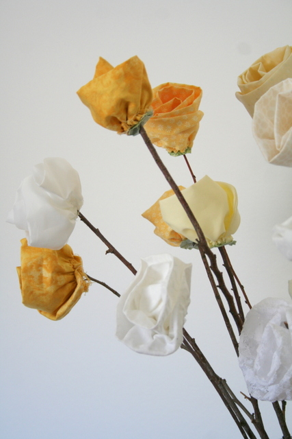 fabric flower blooms