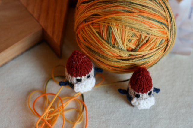 tiny knitted gnomes