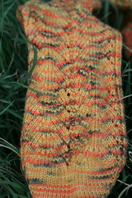 knitted sock detail